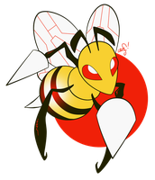 015 - Beedrill by the-Mad-Hatress