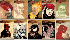 Marvel Sketch Cards 2 by mebooky