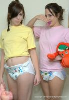 Diaper girls with onetape diapers by Boldrel