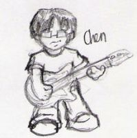 Tiny Cartoon Chen by Dwellrofthegrass