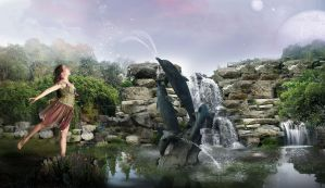 Playtime at The Pond by TL-Designz
