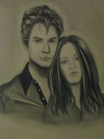 Edward Cullen and Bella Swan by living4music