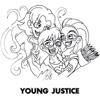 Young Justice - The Girls by UltimeciaFFB