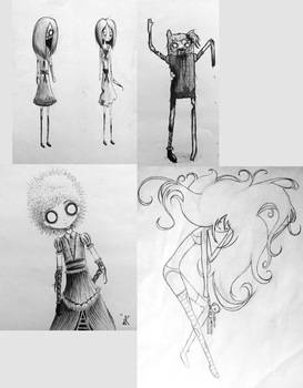 Sketch Dump October 2015 by unknownwittness