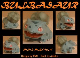 Paper Pokemon Bulbasaur by Adisko