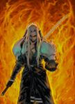 Sephiroth_paint by scabrouspencil
