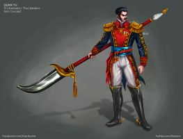 Guan Yu The Liberator Skin Concept for SMITE by karulox