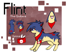 .:Ref:. Flint the Quilava by Rising-At-Midnight