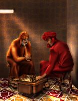 A game of chess by castrochew