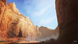 Deserted Cave by alben