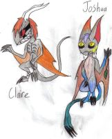 Joshua and Claire by werecatkid17