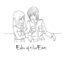 Eden of the East - AxS by jinglefox