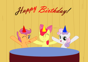 CMC Birthday Card by IronwoodAKACleanser
