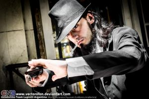 Team LupinIII Cosplay Feb2014 photo19 Jigen by Vectorolon