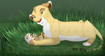 Kicheko And Cubs by WolvesWoodGlen
