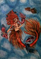 Siamese Betta Mermaid by FantasticalArtistryy