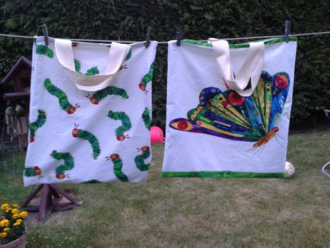 The Very Hungry Caterpillar Tote bags by LabyrinthLadyLover