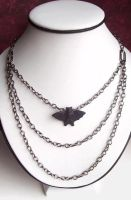Three Strand Bat Necklace by BastsBoutique