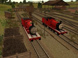 Sodor Island 3D James Update Again by BramGroatonDA