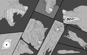 Lineart Dump by WhiteWolfCrisis13