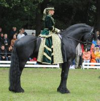 Green Lady On Friesian 01 by ponystock