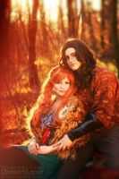 DragonLance - Tika Waylan and Caramon Majere  01 by Megane-Saiko