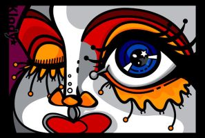 Abstract vector face by klody