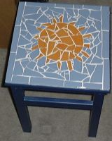 Mosaic Tile Sun Table--small by alanahawk