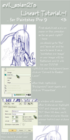 Paintshop Pro Lineart Tutorial by evil-asian21