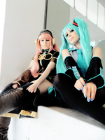 Miku and Luka cosplay 4 by Lumiri312