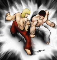 Street Fighter: Ryu vs Ken by v-p-j