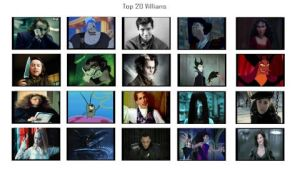 My Top 20 Villains by Normanjokerwise