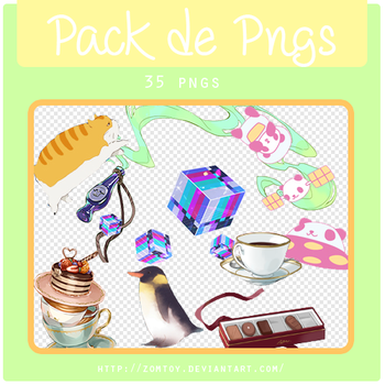 Pack de PNGS | 1 | by ZomToy