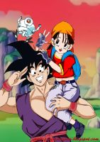 Dragon Ball Gt Pan Y Goku by shinamvec