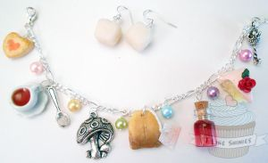 Alice and the teaparty -OOAK scented bracelet by ilikeshiniesfakery