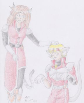 Chaz and Alys ...as cats for some reason by SkylarkStarflower