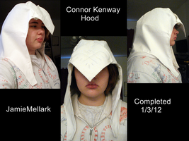 Connor Kenway Assassin's hood by ConsultingTimeLord96