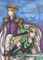 Gender swap- Link and Zelda by StrawberryLoveAlways
