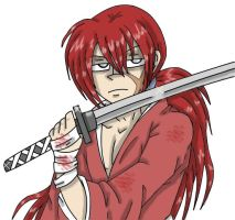 Kenshin Himura by squid1girl