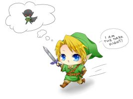 Link Chibi Batman by KitsuneSama1720