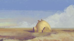Tatooine Lukes Home by MisuseOfColors