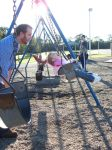 Father, Daughter Swinging 2 by o0oTamaraStocko0o