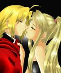 Ed and Winry about to kiss by barbypornea