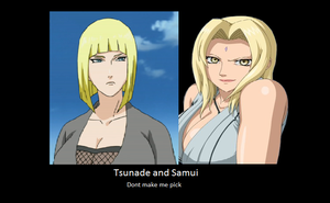 Tsunade and Samui by deidara0000