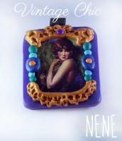 Vintage Chic Peacock Pendant by Nene-Crafts
