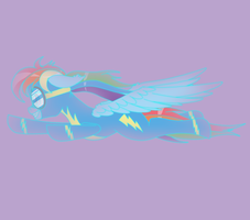 Pone-A-Day 36: Ghost Wonderbolt Dash by DeusExEquus