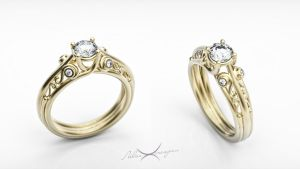 wedding ring by teztezovich