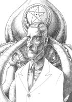 lovecraft black and white by Lucius-Ferguson