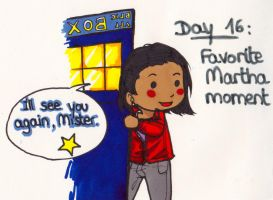 Art Challenge 16: Doctor Who (Fav Martha moment) by WhatItMeansToBeHuman