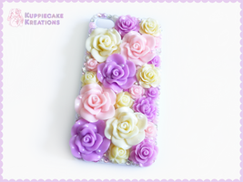 Pink Yellow Purple Flower Garden iPhone 4/4s Case by Kuppiecake